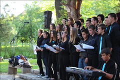 Choir Harmonija performing during the opening ceremony of our International Peace Week in Sanski Most